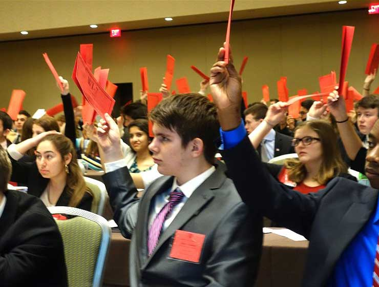 Photo of students at Model UN